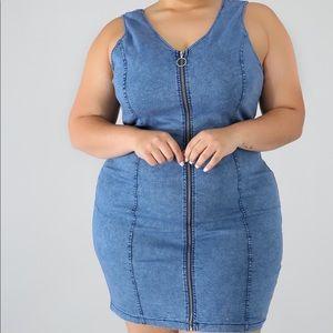 Dresses & Skirts - Denim Zip Up Dress